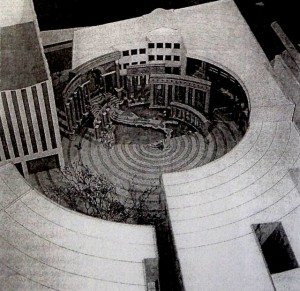 Charles Moore, Piazza d'Italia (1976), model (Arkitekturmuseum, Frankfurt am Main).